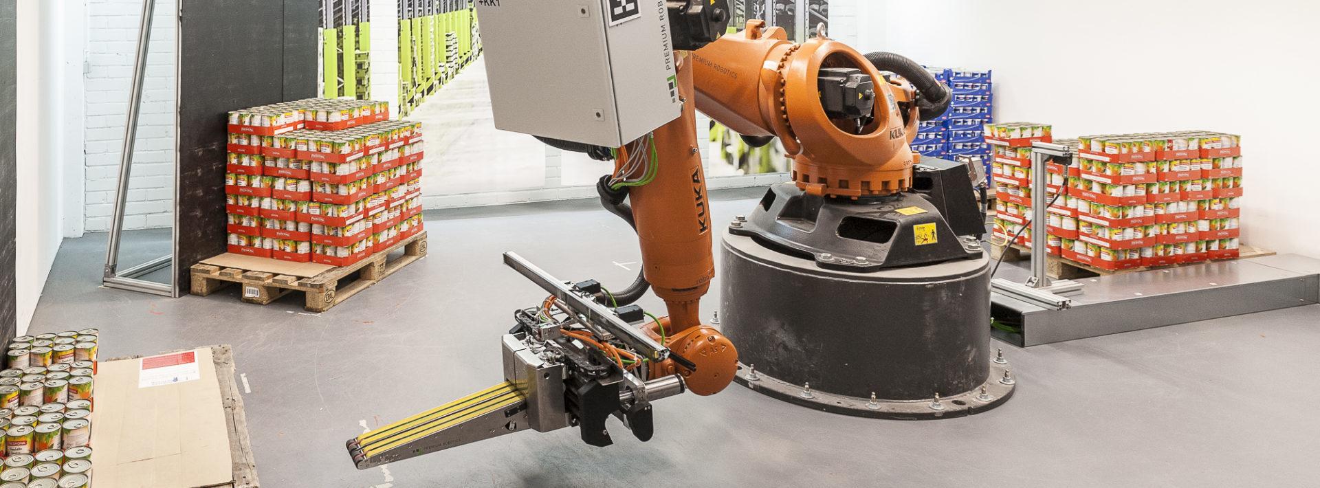 KI-basierte Objektlageschätzung: Greifen von Objekten auf Paletten mit einem Roboter