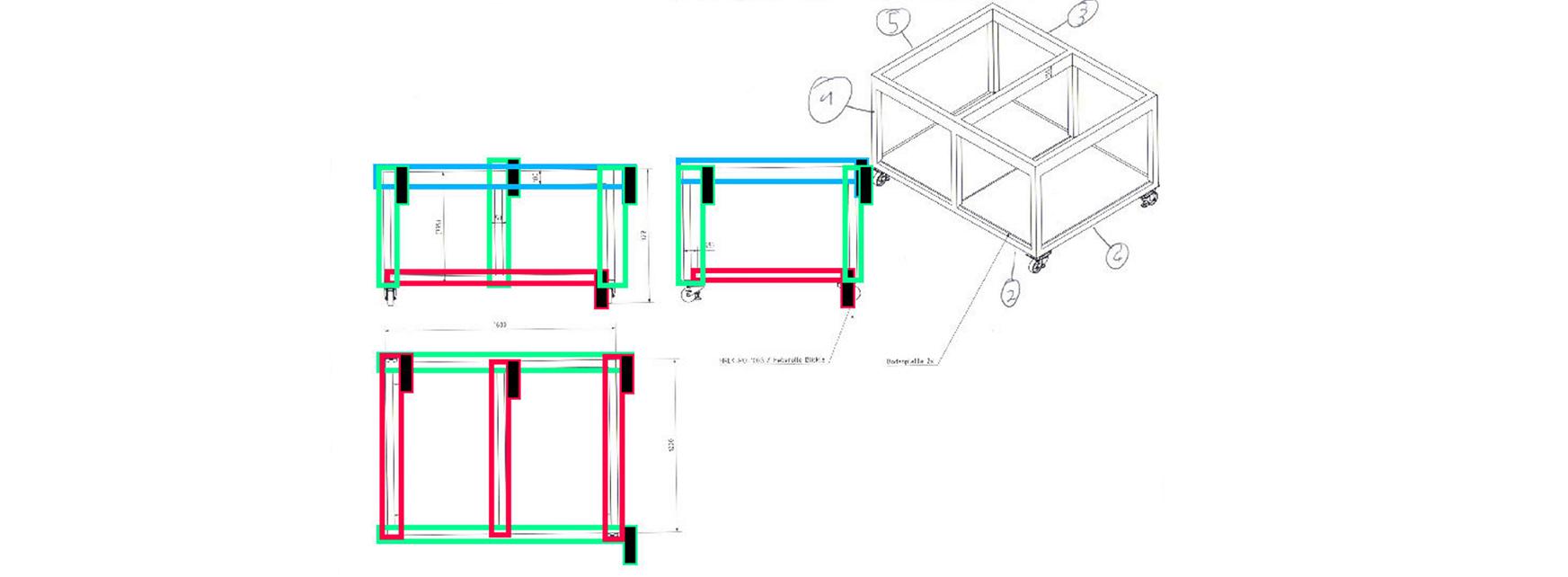 Im Projekt Sketch Digitalizer soll KI Zeichnungen analysieren und die korrekte Materialposition auswählen.